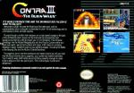 Contra III - The Alien Wars Box Art Back